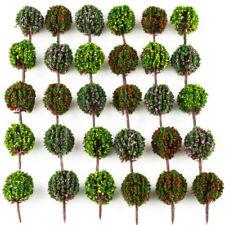 30 Mix Lot 1:100 HO Model Flower Ball Trees Train Garden Park Scenery Layout