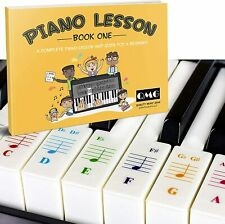 More details for colour piano and keyboard stickers and complete note piano guide