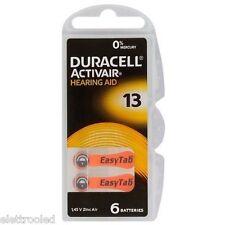 60 batterie apparecchi acustici DURACELL ACTIVAIR mod 13 arancio PR48 CORRIERE