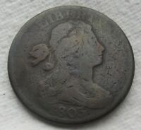 1803 1C BN Draped Bust Large Cent Fine Details Minor Nicks Full Date