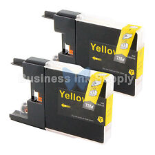 2 YELLOW LC71 LC75 Ink Cartridge for Brother MFC-J5910DW MFC-J625DW MFC-J6510DW