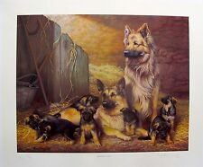 NIGEL HEMMING GERMAN SHEPHERD FLOCK DOGS Hand Signed Ltd Edition Lithograph