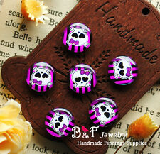 10PCS 12mm Photo Skull Handmade Glass Dome Cabochon Cameo Cover Cabs HBL013-16