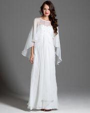 A.B.S. Allen Schwartz Ivory Silk & Crystal Wedding Formal Dress Sz 6 NWT