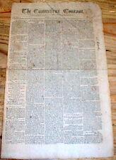 Original 1795 CONNECTICUT COURANT Hartford newspaper GEORGE WASHINGTON President