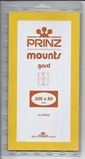 Package of 10 Prinz BLACK Mounts 240 x 89