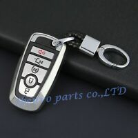 Silver Key Chain Suit Fob Cover For New Ford Fusion Explorer Mustang Edge F-150