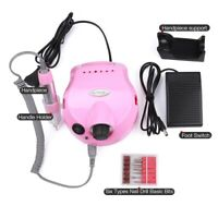 Pro 35000RPM Electric Nail Art Drill Machine Set Manicure Pedicure File Bits Kit