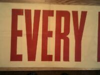 "WWII ""Every Minute Counts"" 10' Banner"