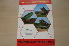 162853) Paul Auwärter Tandem 3 Seiten Kipper Prospekt 197?