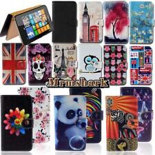 Leather Wallet Stand Flip Case Cover For Various Nokia Asha SmartPhones