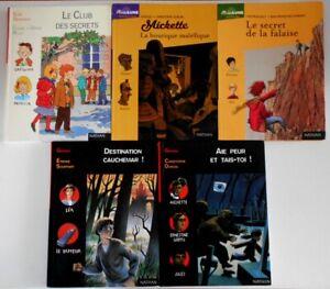 LOT 5 Livres Série Pleine Lune / Lune Noire - Nathan Histoires romans 8/12 ans