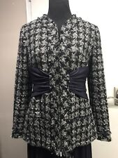 Chanel Runway FW 2017 Big Bow Shape Tweed Jacket 42 $5000 Sold Out