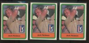 1981 Donruss #13 Jack Nicklaus RC Rookie Lot Of 3