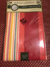 New Bed Bath & Beyond Tablecloth Woven Fabric Stripe 60X84 in Nwt Reduced
