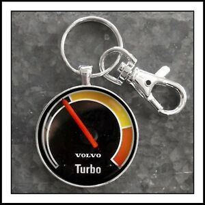 Volvo 240  Turbo Boost Gauge Photo Keychain Gift 🎁 VDO Free Shipping