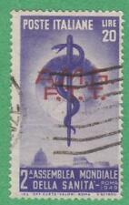 Italy Trieste Allied Occup AMG-FTT #49 used World Health Assembly 1949 cv $16