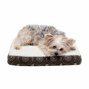 Furhaven Pet Dog Bed - Cooling Gel Memory Foam Mat Faux Sheepskin and Flannel...