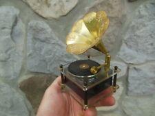 "Vintage Gramophone "" Love Story "" Plastic Japan Sankyo Music Musical Box Works!"