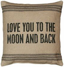 """Love You To The Moon And Back Throw Pillow 15"""" x 15"""", Primitives by Kathy"""