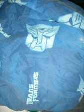 Transformers Twin Flat Sheet Blue Fabric Bedding