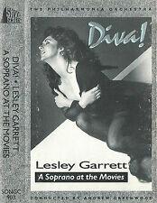 LESLEY GARRETT DIVA SOPRANO AT THE MOVIES CASSETTE ALBUM OPERA PHILHARMONIA ORCH