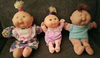 Rare Vintage Lot Of 3 Cabbage Patch Dolls  1996 By Mattel