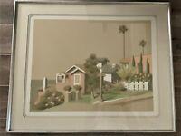 "Signed William Buffett Art Serigraph Print ""Mar Vista"" Framed, Matted, COA"