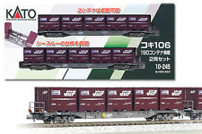 KATO 10-245 N Scale Gauge  COFFRET TRAIN SET 2 WAGONS CAR CONTAINER JRF