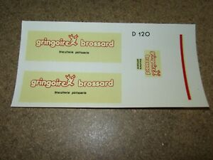 299Q Decal Gringoire Brossard Biscuit Baking Decal 14x7 CM