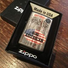 Zippo 218 AMERICA FIRST USA American Flag *RARE* Republican GOP Lighter