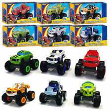 6Pcs/Set Blaze and the Monster Machines Vehicles Diecast Racer Car Toy Kids Gift