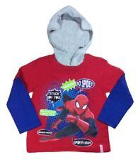 Magliette, maglie e camicie rosso con cappuccio per bambini dai 2 ai 16 anni