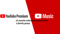 YouTube 12 Months Premium + Music | UPGRADE OWN | WORLDWIDE