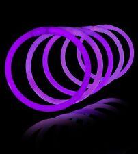 "50 X 8"" Purple Glow Sticks Bracelets Party Bag Toys"