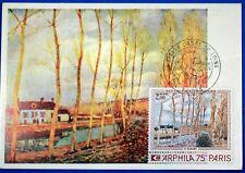 TABLEAU DE SISLEY  FRANCE CPA Carte Postale Maximum Yt 1812 GF