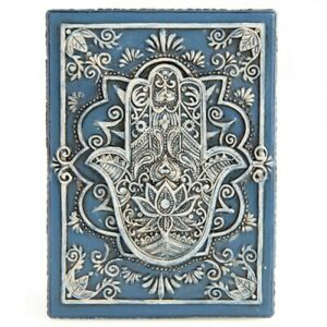 Hamsa Design Wooden Box Jewellery Tarot Cards Stones Crystal Storage