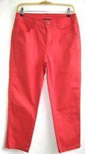 MADO AND THE OTHERS THREE QUARTER PANTS HIGH WAIST COTTON LIGHT RED T 40 PERFECT