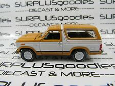 Racing Champions 1:64 LOOSE Collectible Caramel White 1980 FORD BRONCO 4X4 SUV