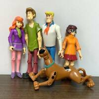 5Pcs Scooby-Doo Velma Daphne Shaggy Dog Fred 5 in. Action Figure Toy Kids Gift