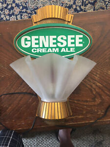 1960s genesee beer light up wall sconce lamp sign Rochester ny
