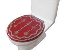 "Heavy Duty Decorative Round Toilet seat Round 17""Inch Seat (Embassy Burgundy)"