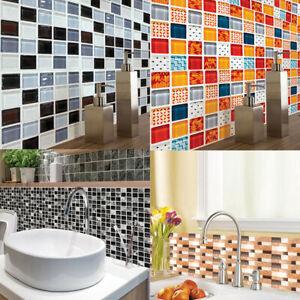 6x Fliesenaufkleber 20 x 20 cm Matt Glänzend Küche Badezimmer Bad Aufkleber