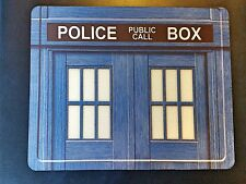 DR WHO TARDIS POLICE BOX ! Anti slip COMPUTER MOUSE PAD 9 X 7inch The Doctor