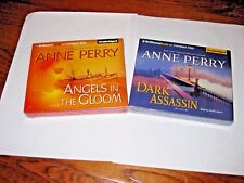 Lot of  [2] Anne Perry: Dark Assassin 15+Angels in the Gloom CD,Unabridged) New