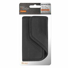 Reiko Horizontal Rugged Pouch Cell Phone Case for iPhone 5 Black 5.3 x 2.7 x 0.6