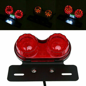 LED 12V Red Brake Light Yellow Turn Signal White Taillight Motorcycle Universal