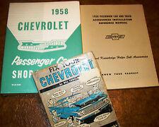 1958 58 chevrolet shop manuals bel air biscayne delray impala nomad yeoman