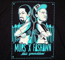 MURS X FASHAWN / THIS GENERATION / HIP HOP 2002 USA / BLACK T-SHIRT SIZE XL