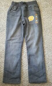 NWT Jersey Lined Gray GYMBOREE Straight Leg Jeans Boys Size 7